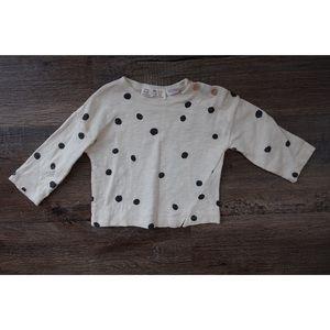 Zara Shirts & Tops - Zara mini, polka dot tee shirt
